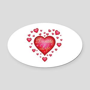 Donate Life Heart burst Oval Car Magnet