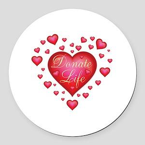 Donate Life Heart burst Round Car Magnet