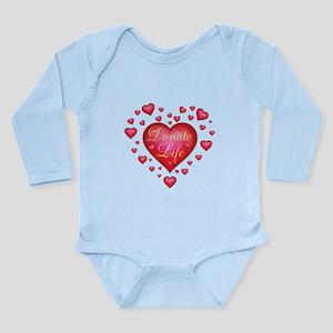 Donate Life Heart burs Long Sleeve Infant Bodysuit