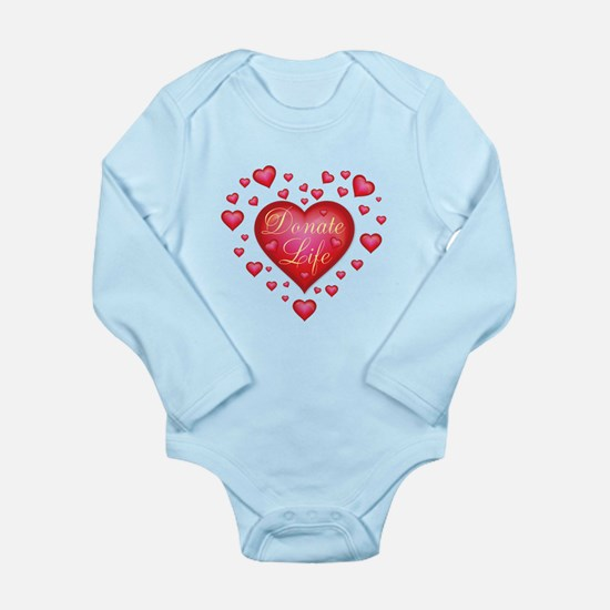 Donate Life Heart burs Long Sleeve Infant Bodysuit