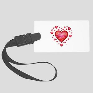 Donate Life Heart burst Large Luggage Tag