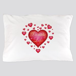 Donate Life Heart burst Pillow Case
