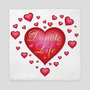 Donate Life Heart burst Queen Duvet