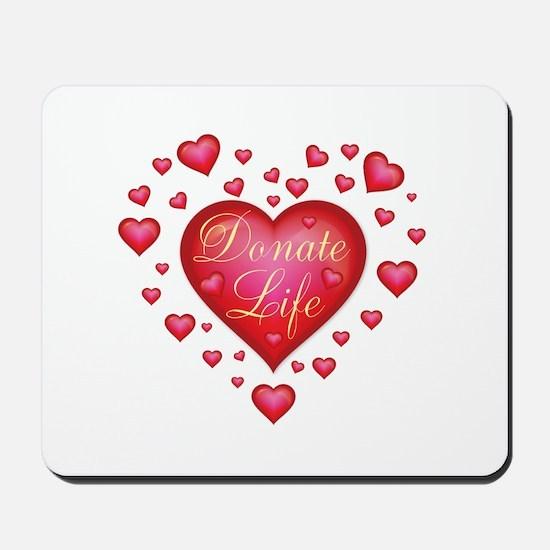Donate Life Heart burst Mousepad