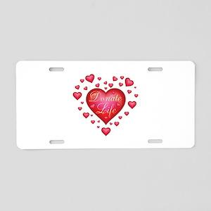 Donate Life Heart burst Aluminum License Plate