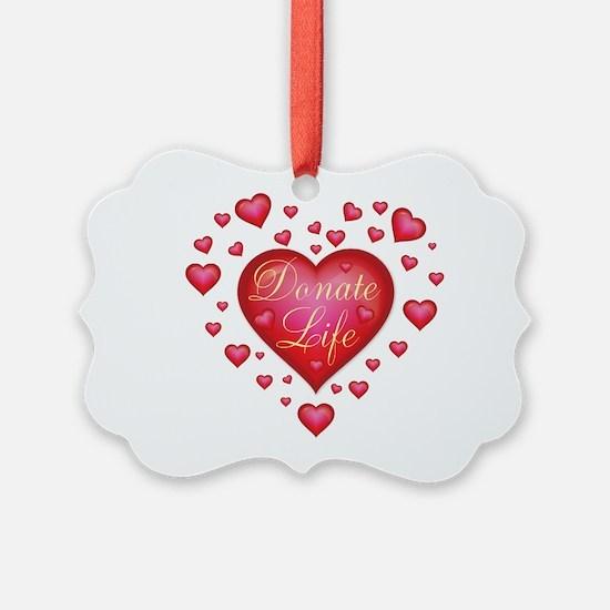 Donate Life Heart burst Ornament