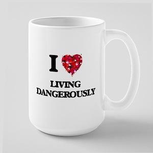 I Love Living Dangerously Mugs