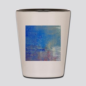 Abstract Seascape Shot Glass