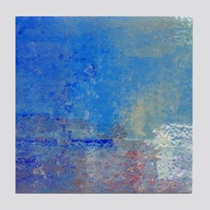 Abstract Seascape Tile Coaster