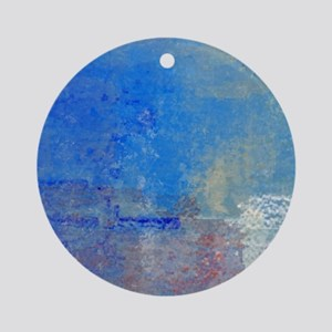 Abstract Seascape Round Ornament