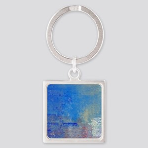 Abstract Seascape Square Keychain