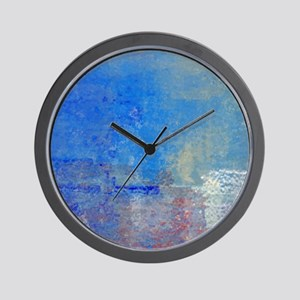 Abstract Seascape Wall Clock