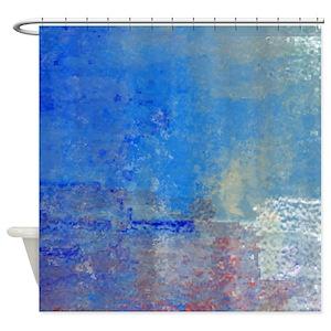 Blue Versace Shower Curtains