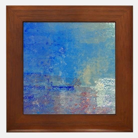 Abstract Seascape Framed Tile