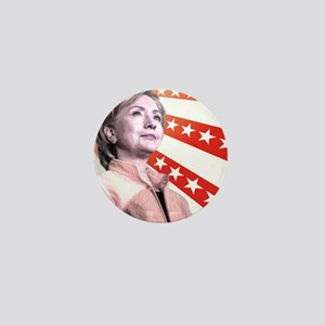 Hillary Stars Mini Button