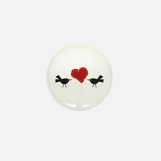 CROWS AND HEART Mini Button