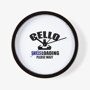 Cello Skills Loading Please Wait Wall Clock