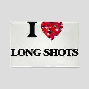 I Love Long Shots Magnets