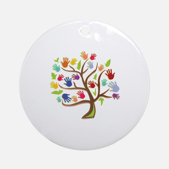 Tree Of Hands Ornament (Round)