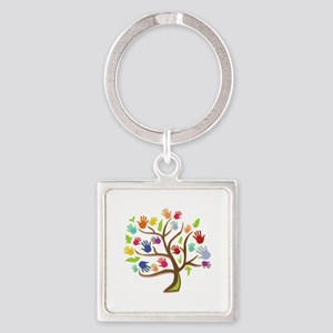 Tree Of Hands Keychains