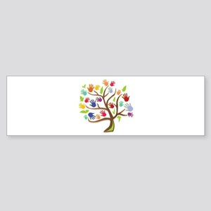 Tree Of Hands Bumper Sticker