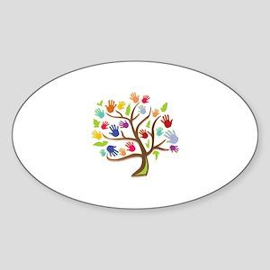 Tree Of Hands Sticker