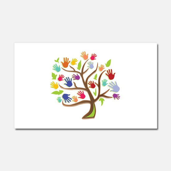 Tree Of Hands Car Magnet 20 x 12