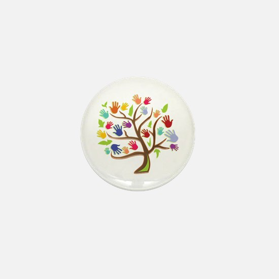 Tree Of Hands Mini Button