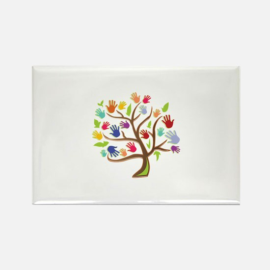Tree Of Hands Magnets