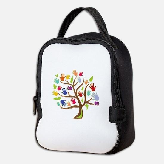 Tree Of Hands Neoprene Lunch Bag