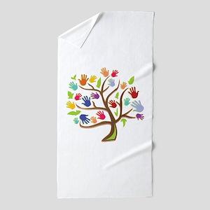 Tree Of Hands Beach Towel