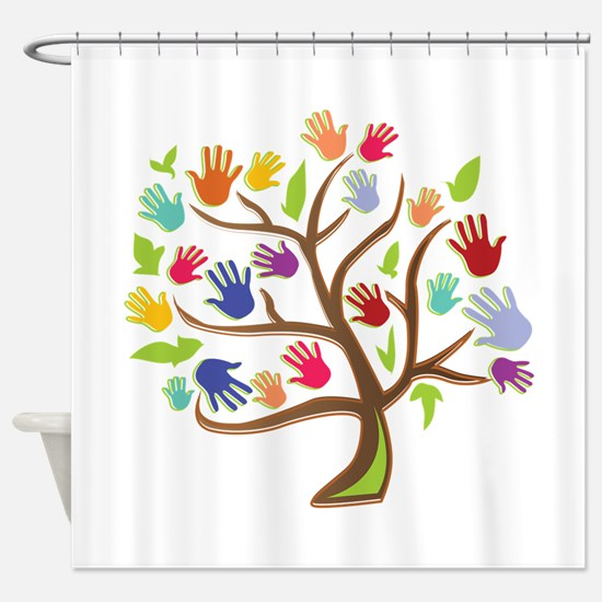 Tree Of Hands Shower Curtain