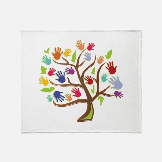 Tree Of Hands Throw Blanket