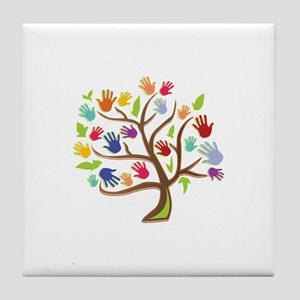 Tree Of Hands Tile Coaster
