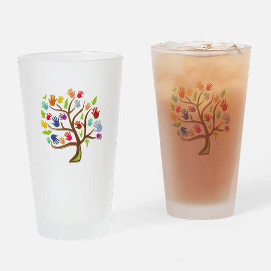Tree Of Hands Drinking Glass