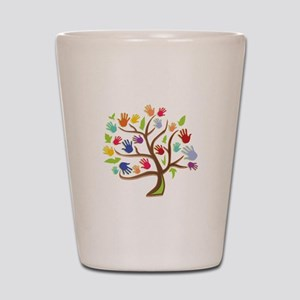 Tree Of Hands Shot Glass