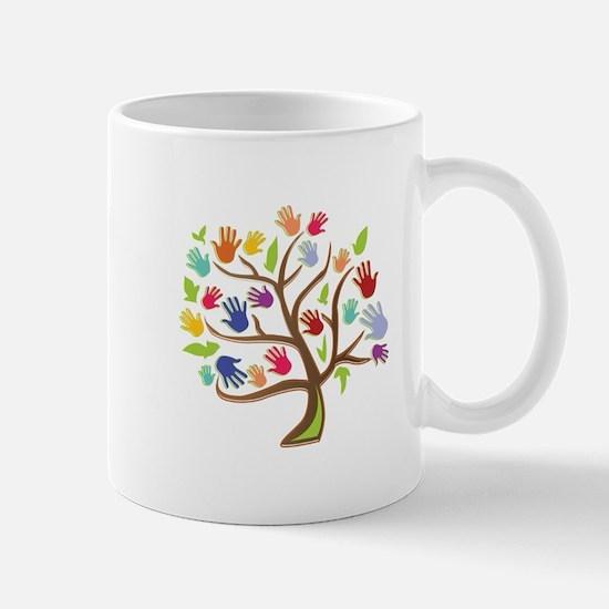 Tree Of Hands Mugs