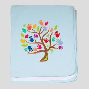 Tree Of Hands baby blanket