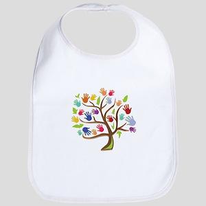 Tree Of Hands Bib