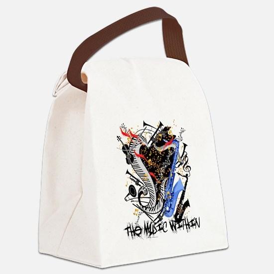 Unique Trumpeter Canvas Lunch Bag