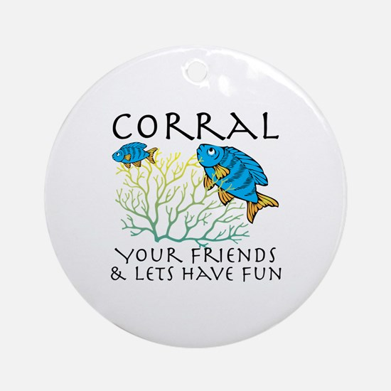 Corral Your Friends Ornament (Round)