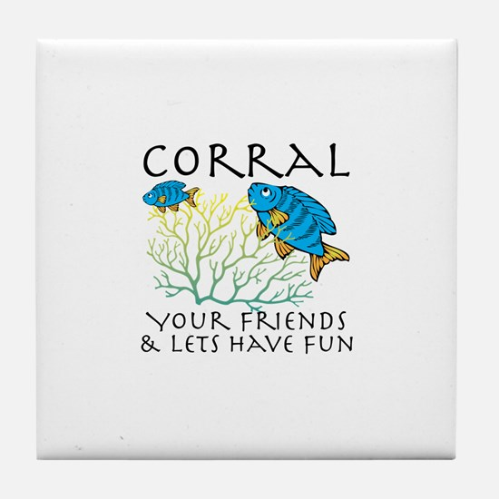 Corral Your Friends Tile Coaster