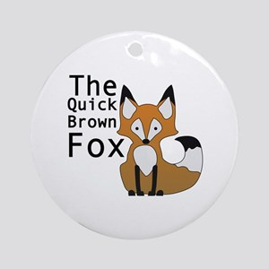 Brown Fox Ornament (Round)