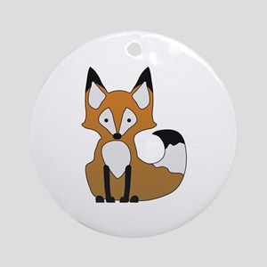 Fox Ornament (Round)