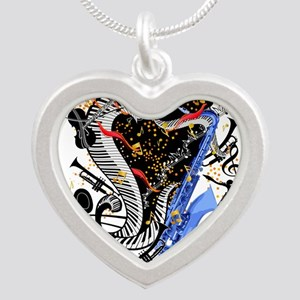 Musical Instruments Band Colorful by Jul Necklaces