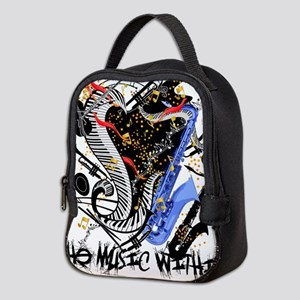Musical Instruments Band Colorf Neoprene Lunch Bag