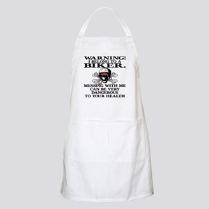 I Belong To A Biker BBQ Apron