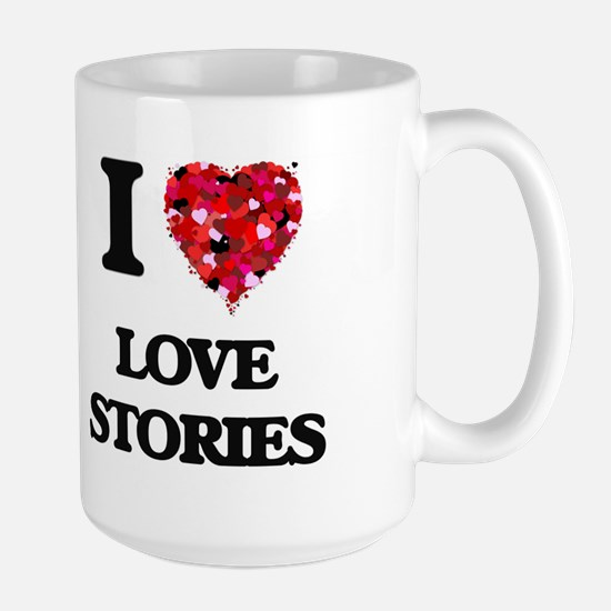 I Love Love Stories Mugs