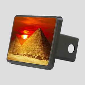 Egyptian Pyramids At Sunset Hitch Cover