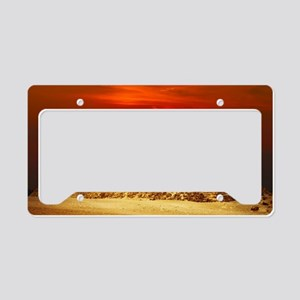 Egyptian Pyramids At Sunset License Plate Holder